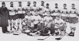 Ice hockey in the United Kingdom - The 1936 Winter Olympics gold winning Great British team