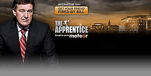 The Apprentice (Irish TV series) - The header of The Apprentice 2009 with Bill Cullen