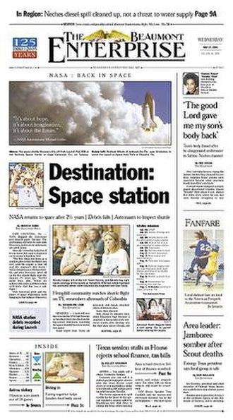 The Beaumont Enterprise - Image: The Beaumont Enterprise front page
