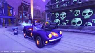 Toy Story 3: The Video Game - Emperor Zurg driving in his vehicle.