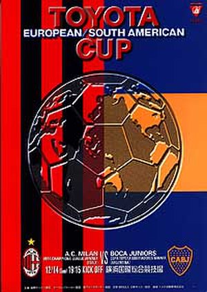 2003 Intercontinental Cup - Match programme cover