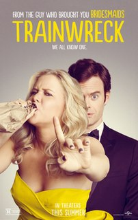 <i>Trainwreck</i> (film) 2015 American romantic comedy film directed by Judd Apatow