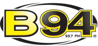 KDKA-FM - Logo for the revival of B94, used from October 2007 to February 2010