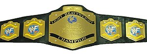 WWF Light Heavyweight Championship - The WWF Light Heavyweight Championship belt with the WWF scratch logo (circa 2001)