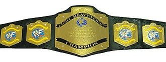 WWF Light Heavyweight Championship - The WWF Light Heavyweight Championship belt with the WWF scratch logo (circa 2001)