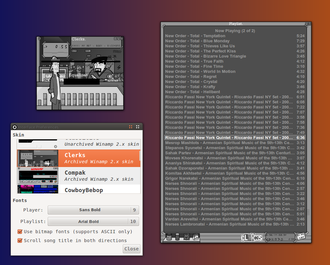 Audacious (software) - Audacious with external .wsz Skin running on Ubuntu 11.10.