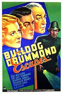<i>Bulldog Drummond Escapes</i> 1937 film by James P. Hogan