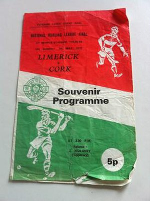 1971–72 National Hurling League - Image: 1971–72 National Hurling League final programme