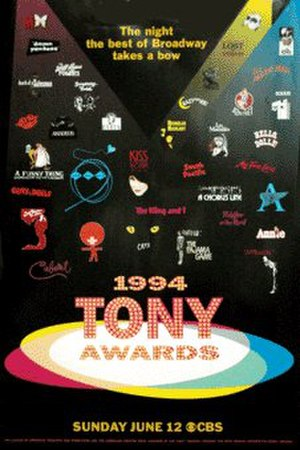 48th Tony Awards - Official poster for the 48th annual Tony Awards