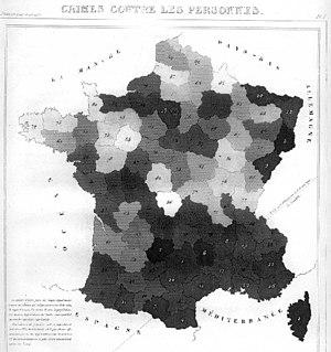 André-Michel Guerry - Image: AM Guerry carte 1 low