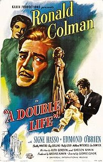 <i>A Double Life</i> (1947 film) 1947 film by George Cukor