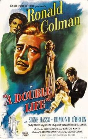 A Double Life (1947 film) - Theatrical release poster