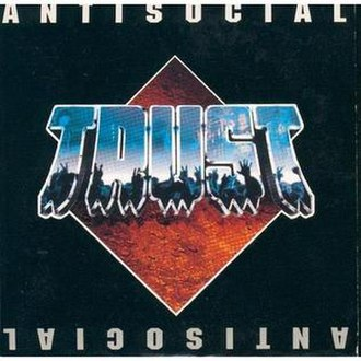 Antisocial (song) - Image: Antisocial Trust single cover