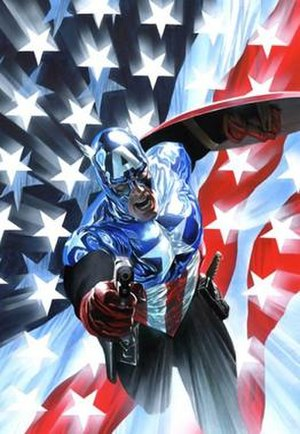 Bucky as Captain America.