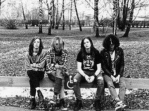 Carnage (band) - Left to right: Jeppe Larsson, Johan Liiva, Michael Amott, Johnny Dordevic