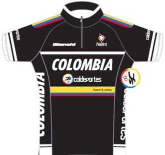 Colombia (cycling team) - Image: Colombia Coldeportes jersey