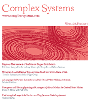 Complex Systems (journal) - Image: Complex Systems Journal cover
