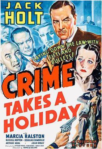 Crime Takes a Holiday - Theatrical release poster