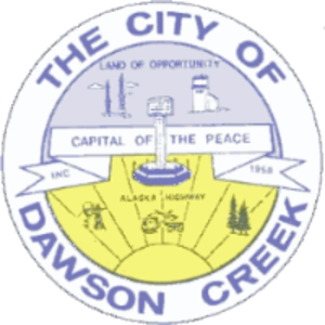 Dawson Creek - The former Dawson Creek city logo, retired in 2002