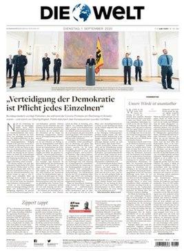 Die Welt front page