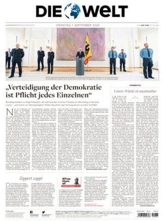 Die Welt - Image: Die Welt front page