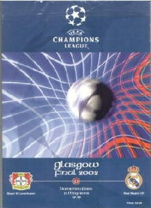 2002 UEFA Champions League Final - Match programme cover