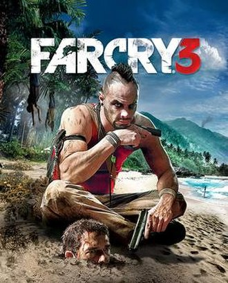 Far Cry 3 - Cover art featuring the game's antagonist, Vaas Montenegro