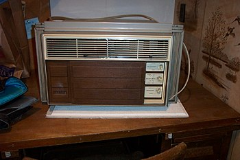 A Fedders air conditioning unit.