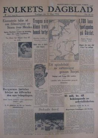 Folkets Dagblad Politiken - Folkets Dagblad Politiken, 15 March 1934 issue