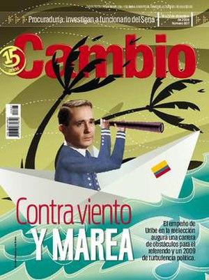 Cambio (magazine) - Cover of Cambio, issue 807 December 2008.