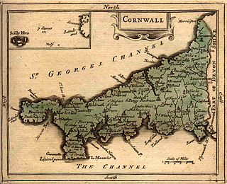 Hundreds of Cornwall administrative divisions into which Cornwall was divided between c. 925 and 1894