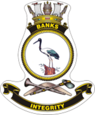 HMAS Banks - Ship's badge