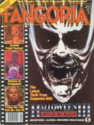 Halloween III: Season of the Witch - Edd Riveria's Halloween III artwork featured on the cover of Fangoria.