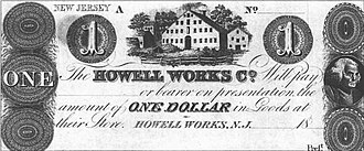 Howell Works - Howell Works Company $1 note