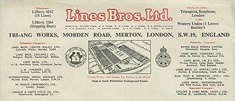 Lines Bros - Image: Image LETTER 1955 kop