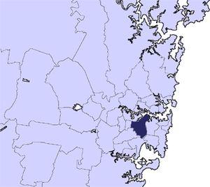 Inner West Council - Location in Metropolitan Sydney