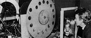 "John Logie Baird with his ""televisor"", circa 1925."