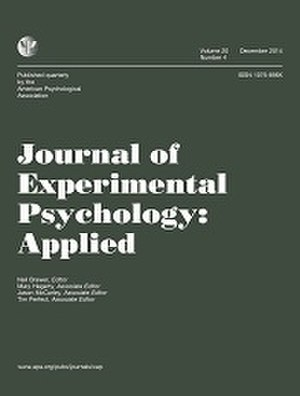 Journal of Experimental Psychology: Applied - Image: Journal of Experimental Psychology Applied Cover Image