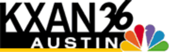 """KXAN-TV - KXAN's logo used from 2002 until 2007. The """"falling 36"""" seen here was used since 1987, when it adopted current KXAN calls."""