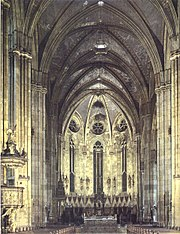 Cathedral of St Stephen in capital of Croatia, Zagreb, interior from 14th century