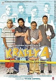 Krazzy 4 (2008) SL DM - Juhi Chawla, Arshad Warsi, Irrfan Khan, Suresh Menon, Rajpal Yadav ,Shahrukh Khan and Hrithik Roshan