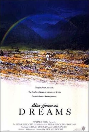 "Sunshower - Poster for Akira Kurosawa's 1990 film ""Dreams"", which features a fox wedding"