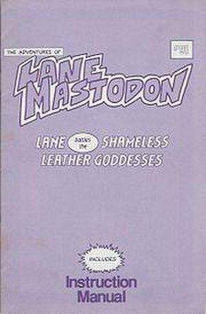 Leather Goddesses of Phobos - Cover of the Lane Mastodon comic feely—the instruction manual for the game