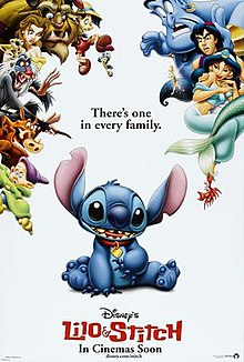 All the major characters from classic Disney films gather to avoid Stitch, since they seem appalled at him.