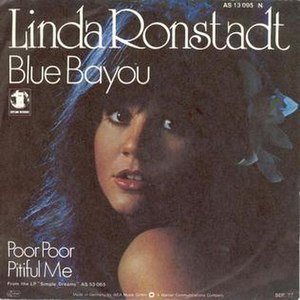 Blue Bayou - Image: Linda Ronstadt Blue Bayou single cover