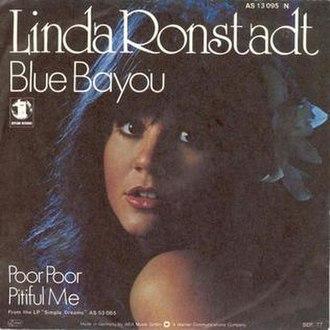 Blue Bayou - Image: Linda Ronstadt Blue Bayou single cover