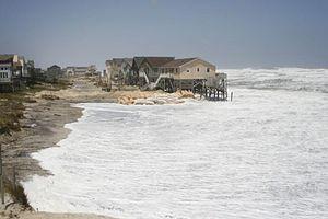 Coastal hazards - North Carolina Homes being taken by the Atlantic Ocean 08-23-2011
