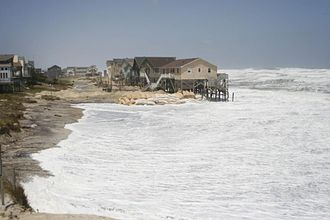 Coastal hazards - North Carolina Homes being taken by the Atlantic Ocean 08-23-2011