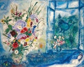 Bouquet près de la fenêtre - Image: Marc Chagall Bouquet près de la fenêtre