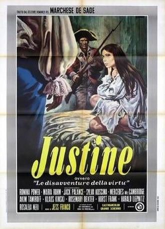Marquis de Sade: Justine - Italian theatrical release poster for Marquis de Sade: Justine